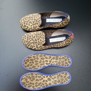 Rothy's girls leopard loafers size 2